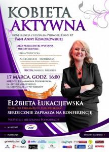 Plakat konferencji Kobieta Aktywna 2011