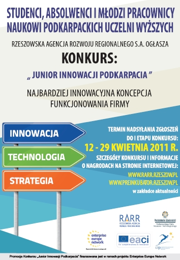 "Konkurs na biznesplan ""Junior Innowacji Podkarpacia"""