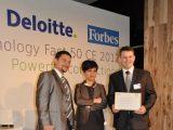 Fabryka e-biznesu otrzymuje nagrodę Deloitte Fast rising stars - Kamil Zagórowski (z lewej) i Mateusz Zych (z prawej).