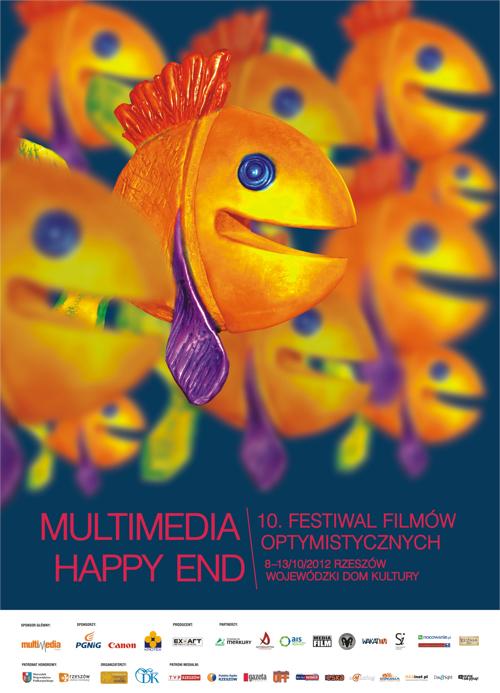 plakat 10. multimedia happy end festiwalu filmów optymistycznych 2012