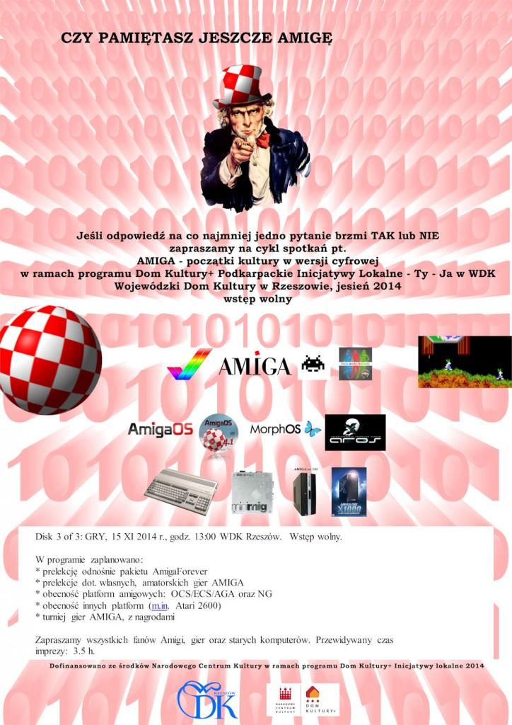 inicjatywa amiga wdk rzeszow 15 listopada plakat