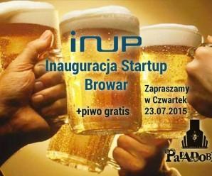 """Przyjdź w czwartek na piwo i dołącz do koalicji startupów """"INUP"""""""